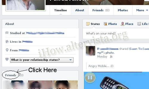 Hide Friends in Facebook